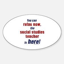 Relax, social studies teacher here Decal