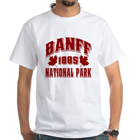 Banff Old Style Red White T-Shirt