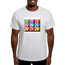 Pop Art Janie Ash Grey T-Shirt