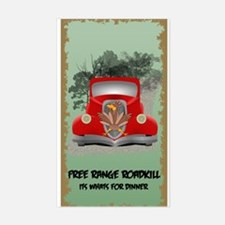 Funny Roadkill Sticker (Rectangle)