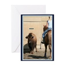 Horse & Bison Greeting Card