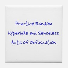 Hyperbole & Obfuscation Tile Coaster