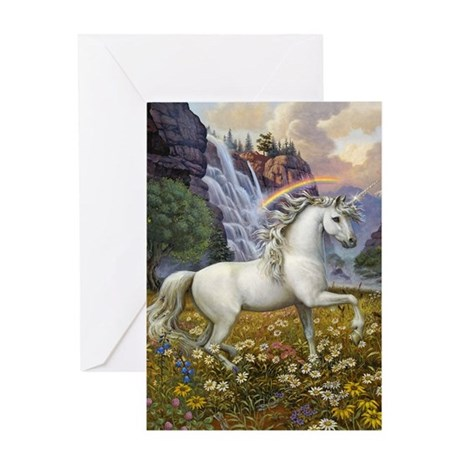 UNICORN RAINBOW VALLEY Greeting Card