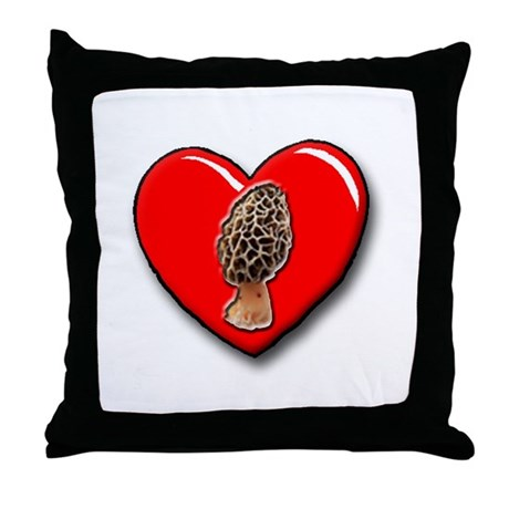 """I love Morels"" Throw Pillow"