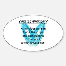 Chaos Theory - War Sticker (Oval)