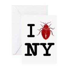 Cute Bed bugs Greeting Card