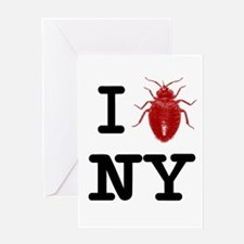 Unique Bed bugs Greeting Card