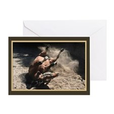 Rolling Horse Greeting Card