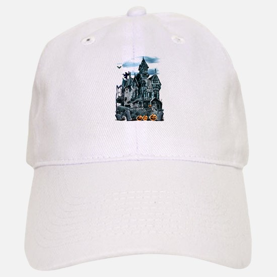 Haunted House Baseball Baseball Cap