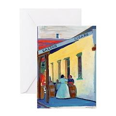 Saloon ladies by Riccoboni Greeting Card