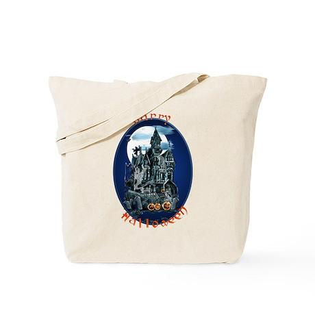 Haunted House_Happy Halloween Tote Bag