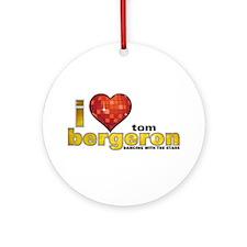 I Heart Tom Bergeron Round Ornament