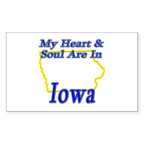 Heart & Soul - Iowa Sticker (Rectangle)