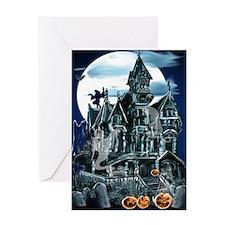 Haunted House_Happy Halloween Greeting Card