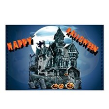 Haunted House_Happy Halloween Postcards (Package o