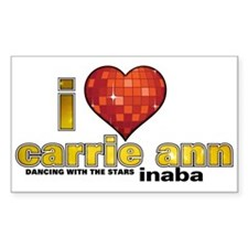 I Heart Carrie Ann Inaba Sticker (Rectangle)