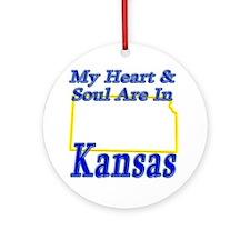 Heart & Soul - Kansas Ornament (Round)