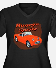 Bugeye Sprite Women's Plus Size V-Neck Dark T-Shir