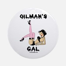 Oilman's Gal Ornament(Round)Oil,Gift,Rig,Gas