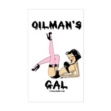 Oilman's Gal Sticker(Rectangle)Oil,Gas,Sexy,Rertro
