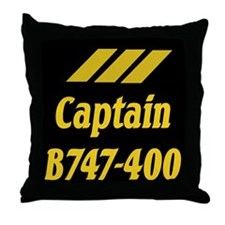 Captain B744 Throw Pillow