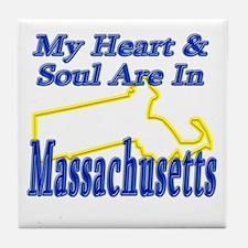 Heart & Soul - Massachusetts Tile Coaster