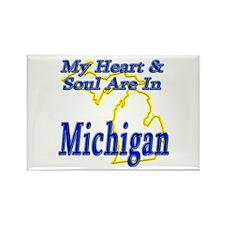 Heart & Soul - Michigan Rectangle Magnet (10 pack)