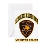 Redlands Mounted Police Greeting Card