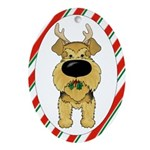 Airedale Christmas Ornament (Oval)