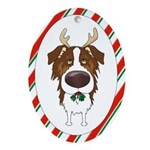 Red Aussie Christmas Ornament (Oval)