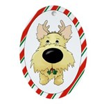 Cairn Terrier Christmas Ornament (Oval)