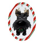 Scottie Christmas Ornament (Oval)