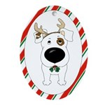 Jack Russell Terrier Christmas Ornament (Oval)