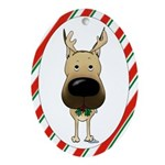 Great Dane Christmas Ornament (Oval)