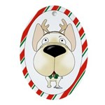 French Bulldog Christmas Ornament (Oval)