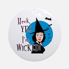 Flirty Witch Ornament (Round)