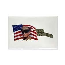 Old Soldier Rectangle Magnet