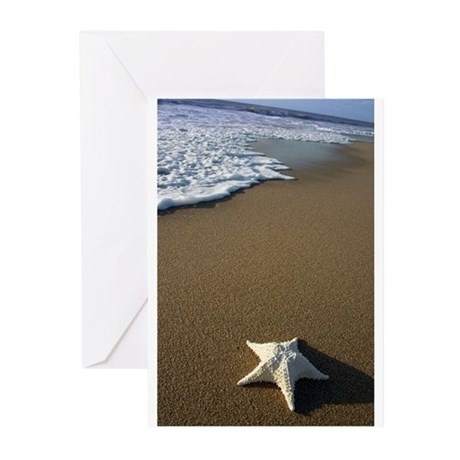 STARFISH ON THE BEACH Greeting Cards (Pk of 10)