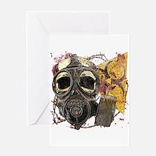 Biohazard Skull in Mask Greeting Card