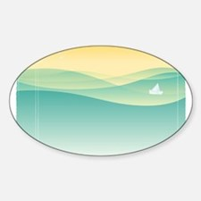 SAILBOAT ON THE SEA Decal