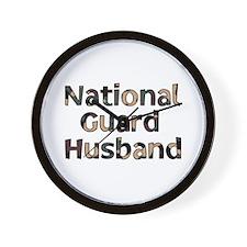 National Guard Husband Camo Wall Clock