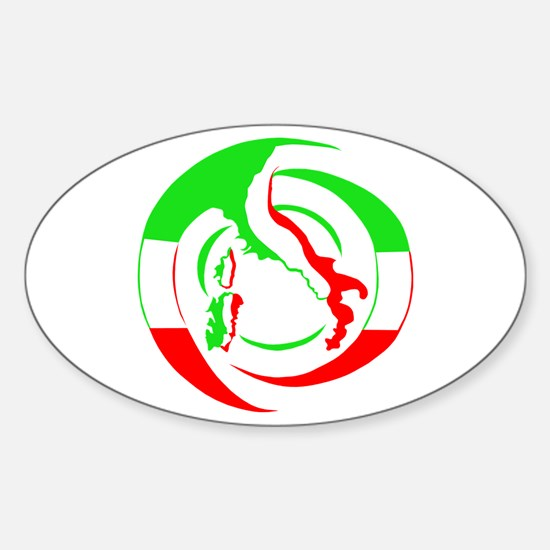 Cool Italy boot Sticker (Oval)