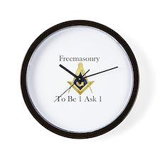 Funny Masonic Wall Clock