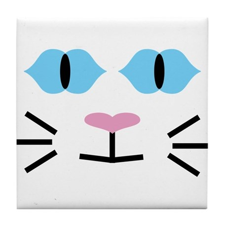 Blue-eyed Cat Tile Coaster