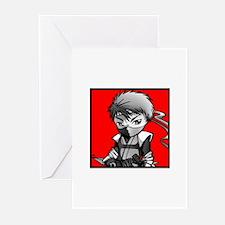 KID NINJA - B&W Greeting Cards (Pk of 10)