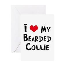 Bearded Collie Greeting Card