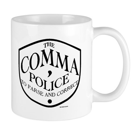 Comma Police Mug Mugs