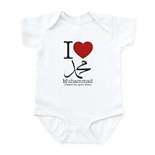 'I Love Muhammad' Infant Bodysuit