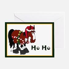 Horse Ho Ho Greeting Card