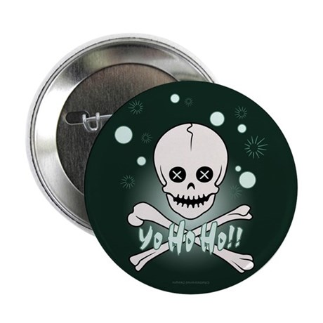 "Yo Ho Skull 2.25"" Button"